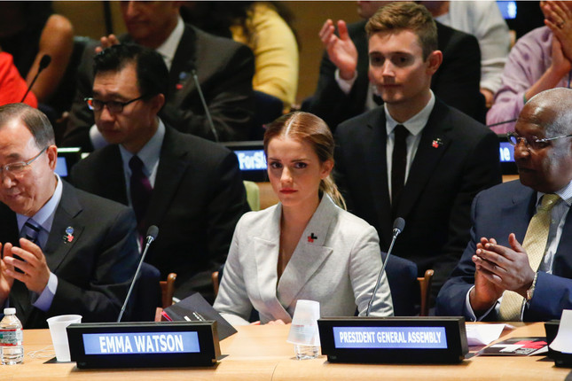 Kudos to Emma Watson – inspiring and activating men and women to see gender bias more completely as a human rights issue that hurts both sexes